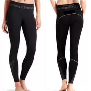 Athleta Compression Reflective Black Legging Pants